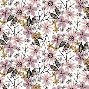 Rustic Wildflowers (Pastel)