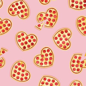 heart shaped pizzas - Valentine's Day - pink