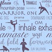 YOGA, yogi, namaste blue