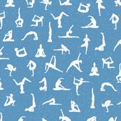 I love yoga healing blue