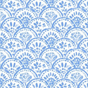 Chinese Chinz-blue Scalloped Wave (mini)