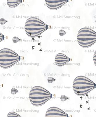 Hot Air Balloons over the Safari - rotated