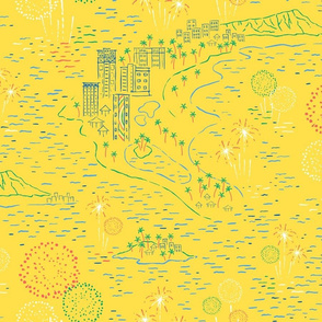 Hawaii Fireworks yellow large