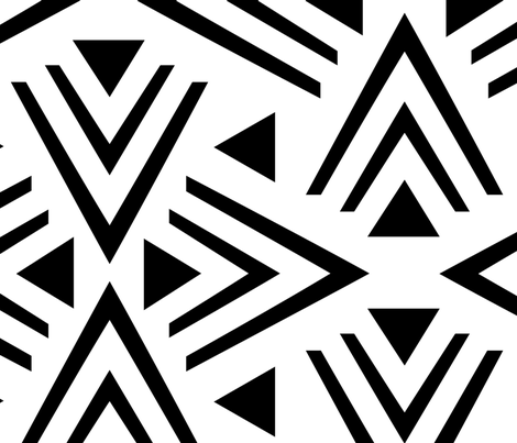 Black & White Mod fabric by kimsa on Spoonflower - custom fabric