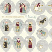 Cut and Sew Christmas Ornaments - Nativity