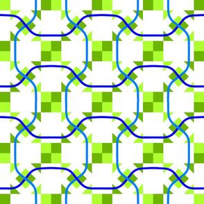 Ribbons - Blue Green