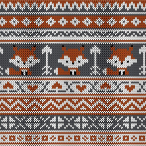 Fair Isle Fox_Gray