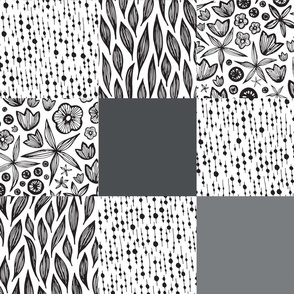 Cheater Quilt in Black and White