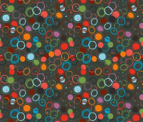 bubbles on grey fabric by nici_gabriel_designs on Spoonflower - custom fabric