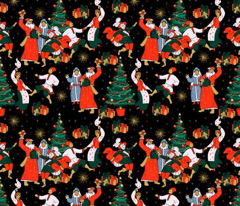 Happy New Year fabric by avot_art on Spoonflower - custom fabric