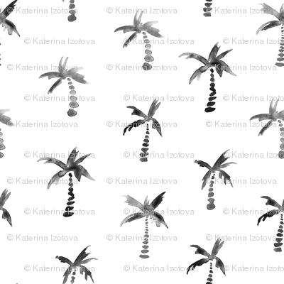 Watercolor scandi palms