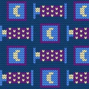 08185976 : bedtime knitting