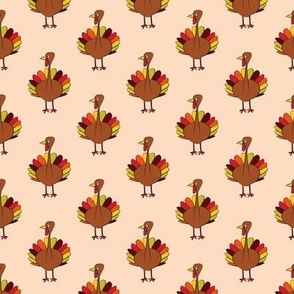 "thanksgiving turkey (1.7"" scale) blush C18BS"