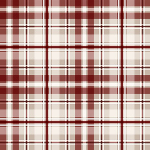 Cranberry red plaid