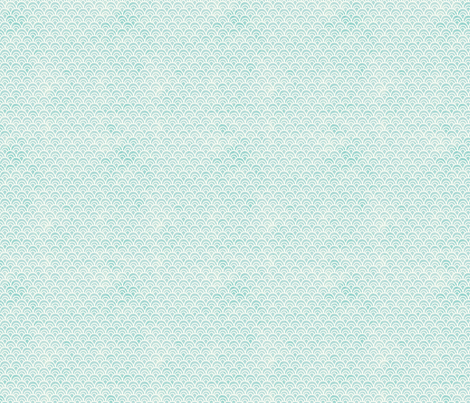 Scallops Soft - SM Aqua Positive fabric by dianakelleydesign on Spoonflower - custom fabric