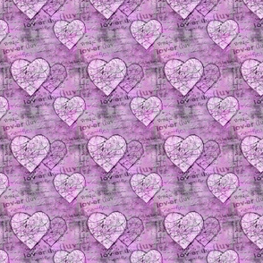 Mixed Media Style Heart Pattern
