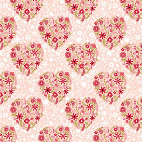 Floral Hearts Pattern