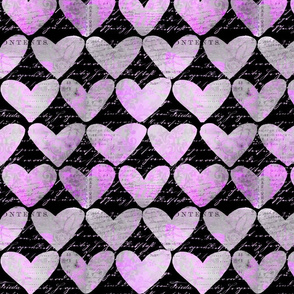 Heart Pattern Black And Pink