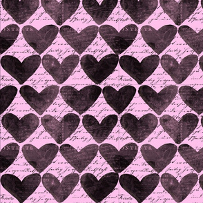 Heart Pattern Pink And Black