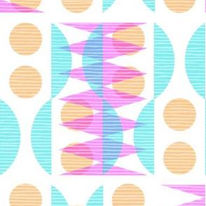 Modern Geometric, Magenta, Cyan, Orange
