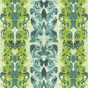Rorschach Baroque, Blue/Green