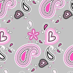 Paisley Grey Pink