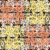 Rorschach Baroques Tile, Orange