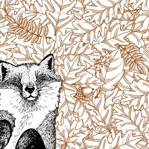 Fox and Leaves_pattern