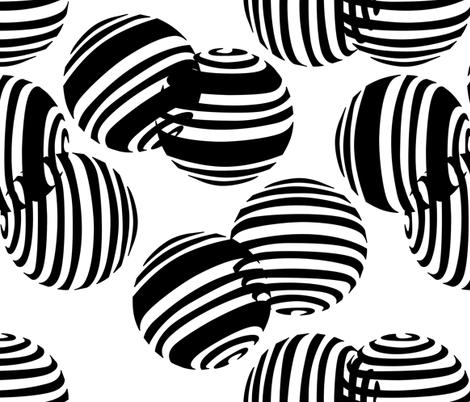 black and white spheres2 fabric by avot_art on Spoonflower - custom fabric