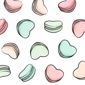 Heart Shaped Macarons - Valentines day  - pastels