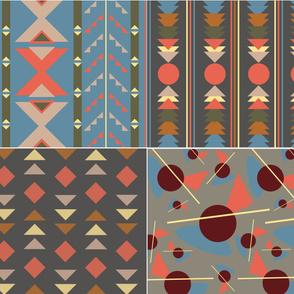 DIY Project - 4 tea towels ethno dusk