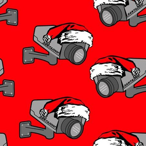 santa cam red (he knows when you are sleeping)