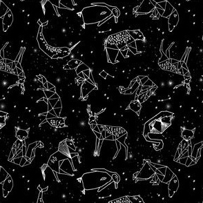 SMALL - constellations // black and white kids nursery baby geometric animals