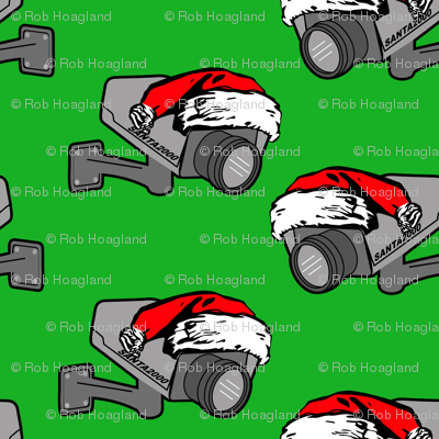 santa cam green (he knows when you are sleeping)