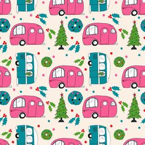Retro Christmas Campers