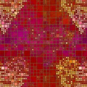 Heart Pattern Square Tiles