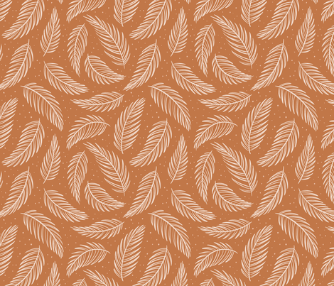 Palm Leaves - Rust fabric by alexgold_textiles on Spoonflower - custom fabric