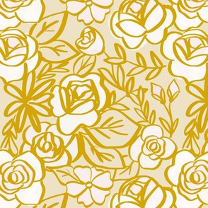 gold and bush florals