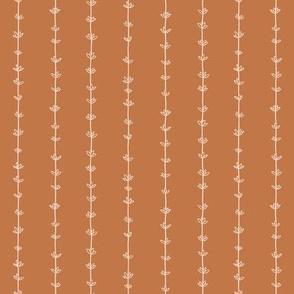Thyme Pinstripes - Desert Brown