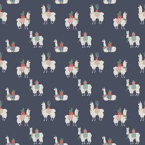 Llamas Every Where blue 150