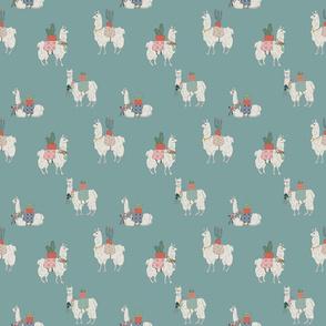 Llamas Everywhere  teal150 dpi