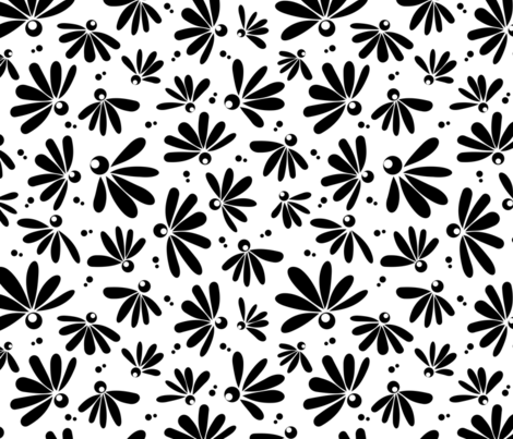 Fantillopia - Large Scale BW fabric by jewelraider on Spoonflower - custom fabric