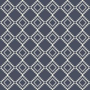 Southwestern Blanket design navy blue2 150