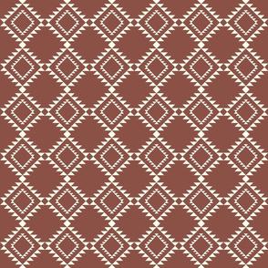 Southwestern Blanket design red clay2 150
