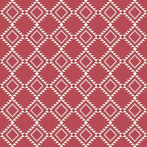 Southwestern Blanket design soft red-2 150