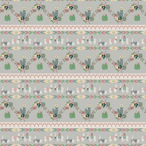 Southwestern Llama Blanket design