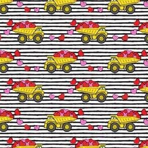 "(1"" scale) tons of love - valentines day trucks with hearts -  black stripes C18BS"