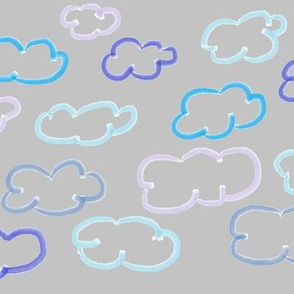 Clouds blue grey