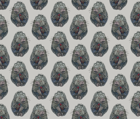 Porcupines fabric by zhfield on Spoonflower - custom fabric