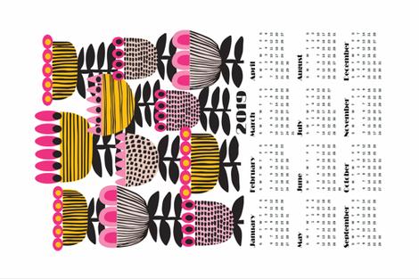 KIRSTEN_KATZ_2019-tuliptime-tea-towel-SF4 fabric by kirstenkatz on Spoonflower - custom fabric